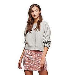 Miss Selfridge - Pink velvet mini skirt