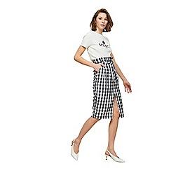Miss Selfridge - Gingham paper bag pencil skirt