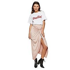 Miss Selfridge - Blush twist knot maxi skirt