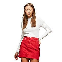 Miss Selfridge - Red denim a-line skirt