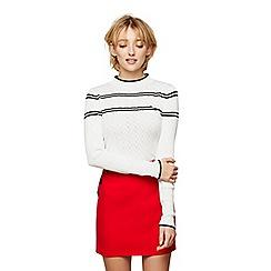 Miss Selfridge - Red button mini skirt