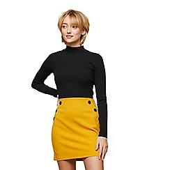 Miss Selfridge - Ochre button waist skirt