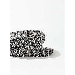 Miss Selfridge - Tweed baker boy hat