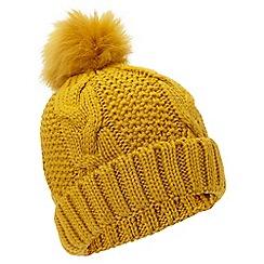 Miss Selfridge - Ochre chunky hat