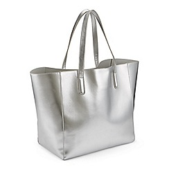 Miss Selfridge Silver Oversized Unlined Tote Bag