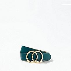 Miss Selfridge - Green circle jeans belt