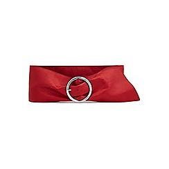 Miss Selfridge - Soft round buckle belt