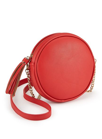 Red circle Selfridge cross Miss bag body 4wRqHY
