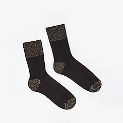 Miss Selfridge - Black lurex cuff socks