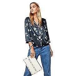 Miss Selfridge - Cream grab clutch bag