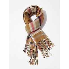Miss Selfridge - Multicoloured checked scarf