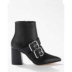 Miss Selfridge - Anna black buckle boots
