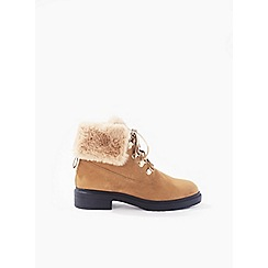 Miss Selfridge - Asha fur lined military boots
