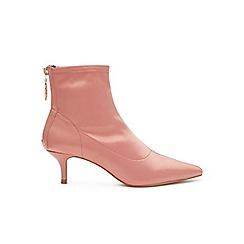 Miss Selfridge - Amor satin kitten heel ankle boots