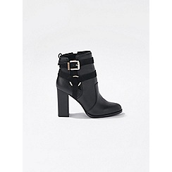 Miss Selfridge - Black alice harness ankle boots