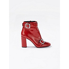 Miss Selfridge - Alyssa patent zip boots