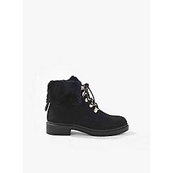 Miss Selfridge - Asha fur lined military boots