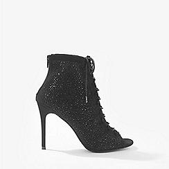 Miss Selfridge - Black athens embellished boots