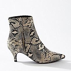 Miss Selfridge - Brandy grey kitten heel boots