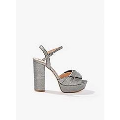 Miss Selfridge - Crystal platform sandals