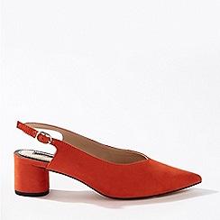 Miss Selfridge - Clara red round heel sling back shoes