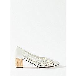 Miss Selfridge - White woven court shoes