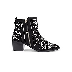 Miss Selfridge - Dazzle stud black boots