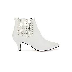 Miss Selfridge - Domi stud kitten heel boots