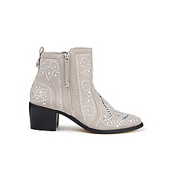 Miss Selfridge - Grey dazzle stud boots