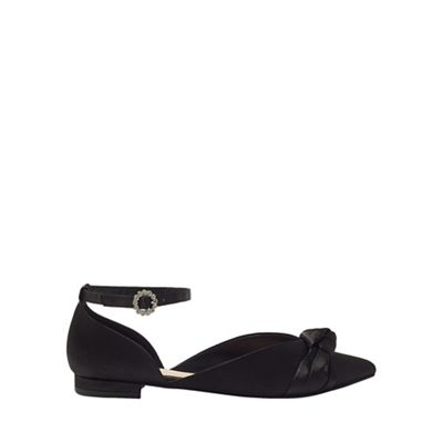 Miss Selfridge - Flynn satin bow shoes