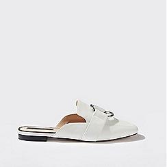 Miss Selfridge - Florentina white loafer mule sandals