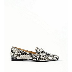 Miss Selfridge - Grey fancy trim detail loafers