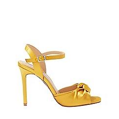 Miss Selfridge - Heidi twist knot satin heel sandals