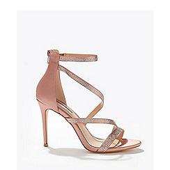 Miss Selfridge - Nude hadleigh diamond stiletto heeled sandals