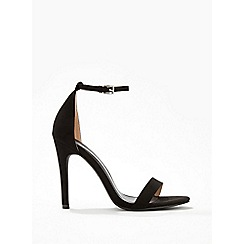 Miss Selfridge - Hester black barely there sandals