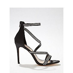f41d81edb91 Miss Selfridge - Black hadleigh diamond stiletto heeled sandals