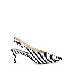 Miss Selfridge - Liddy stripe kitten heel courts