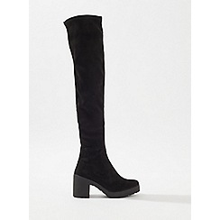 Miss Selfridge - Oakley cleated sole over the knee boots