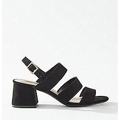 Miss Selfridge - Sienna Black 3 Strap Heel Sandals