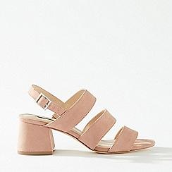 Miss Selfridge - Sienna Pink 3 Strap Heel Sandals
