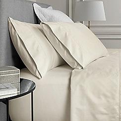 Sheridan - Light cream '1000 thread count cotton sateen' flat sheet