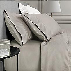 Sheridan - Taupe 1000 thread count cotton sateen flat sheet