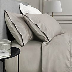 Sheridan - Taupe 1000 thread count cotton sateen pillow case pair