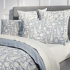 Sheridan - Mid blue 'Hendon' pillow case pair