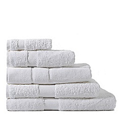 Sheridan - White 'Luxury Egyptian' cotton towels
