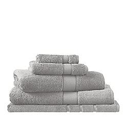 Sheridan - Pale grey 'Luxury Egyptian cotton towel' towels
