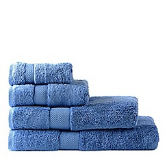 Sheridan - Bright blue 'Luxury Egyptian' cotton towels