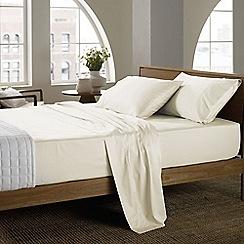 Sheridan - Cream '400 thread count cotton sateen' sheet pillow case pair