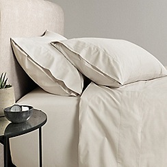 Sheridan - Natural '300 thread count percale' fitted sheet