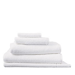 Sheridan - White 'Living Textures' towels